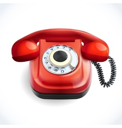 Retro style telephone color vector image