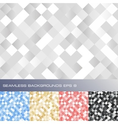 Set of seamless abstract backgrounds vector image vector image
