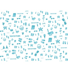Summer vacation holiday icons seamless background vector image