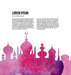 Watercolor Mosque vector image vector image
