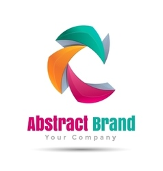 abstract business icon Corporate branding vector image