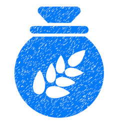 grain harvest sack icon grunge watermark vector image vector image