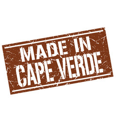 Made in cape verde stamp vector