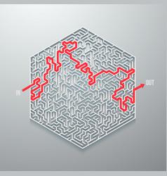 Maze icon vector