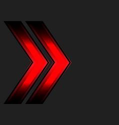 Abstract red double arrow light dark gray vector