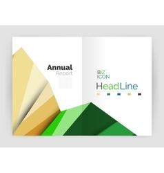 Annual report geometric template vector