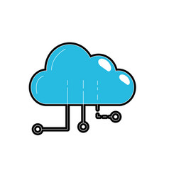 Cloud data with circuits to digital connection vector