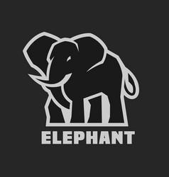 elephant monochrome logo vector image vector image