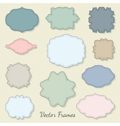 Set of decorative labels vector image vector image