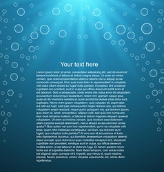 Water background with space for text vector image