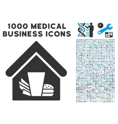Fastfood Cafe Icon with 1000 Medical Business vector image vector image
