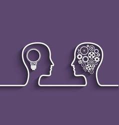 human head gears vector image vector image