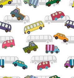 Seamless pattern with cars van vector image