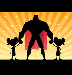 super dad 2 twin girls vector image