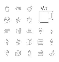 22 tasty icons vector