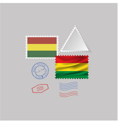 A set stamps with image flag bolivia vector