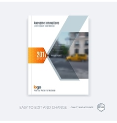Abstract brochure template cover design annual vector