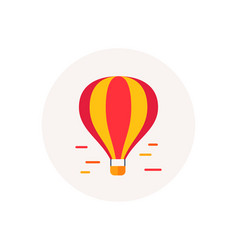 air balloon icon airship transportation delivery vector image