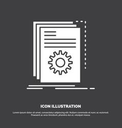 App build developer program script icon glyph vector