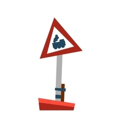 Attention train road sign vector image