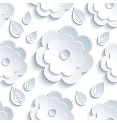 Background seamless pattern with grey flowers and vector image