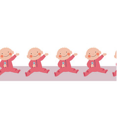 bagirl seamless border repeating baby vector image