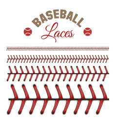 Baseball laces pattern vector