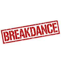 breakdance stamp vector image