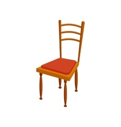 Brown chair icon in cartoon style vector image