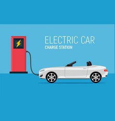 Car electric charge station vehicle eco vector