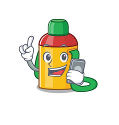 Cartoon character kids water bottle scroll vector