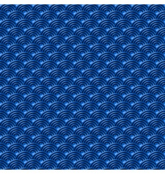 Chinese blue seamless pattern dragon fish scales vector