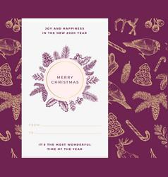 christmas banner template xmas decorative vector image