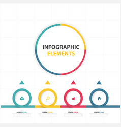 circle infographic elements design template with f vector image