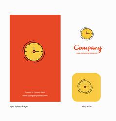 clock company logo app icon and splash page vector image