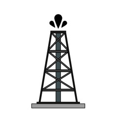 color image cartoon oil crude tower vector image