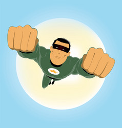 Comic-like green super-hero vector