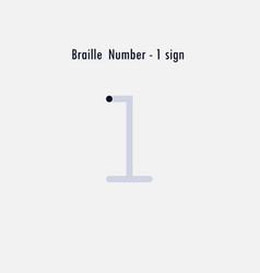 creative english version braille number design vector image