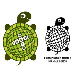 Crossword turtle vector