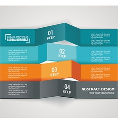Design color number banners template for info vector image