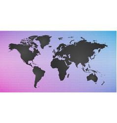 Digital colorful background with world map vector