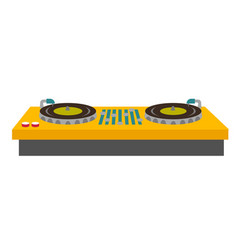 dj turntable console mixer vector image