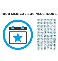 Favourites Day Icon with 1000 Medical Business vector