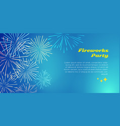 fireworks party color fireworks explosion elements vector image