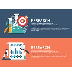 Flat style business research infographic concept vector image