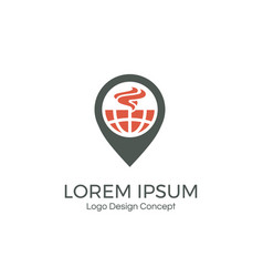 food point logo design template creative symbol vector image