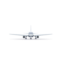 front view jet airplane isolated icon vector image