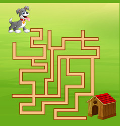 game dog maze find way to the home vector image