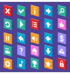 Game flat icons vector image