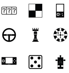game icon set vector image